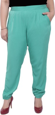 LASTINCH Regular Fit Women's Green Trousers at flipkart