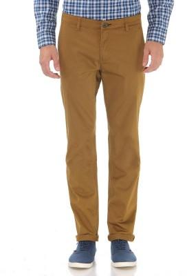 London Fog Slim Fit Men's Brown Trousers