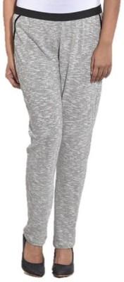 ENTEASE Regular Fit Women's Silver Trousers