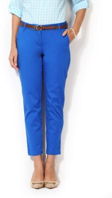 Allen Solly Regular Fit Women,s Blue Trousers
