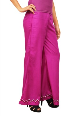 1To9 Regular Fit Womens Pink Trousers