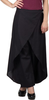 Famous by Payal Kapoor Regular Fit Women's Black Trousers
