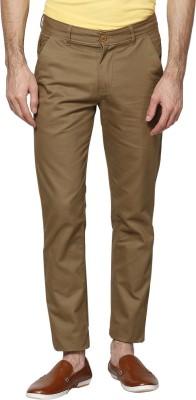 Hubberholme Slim Fit Men's Brown Trousers