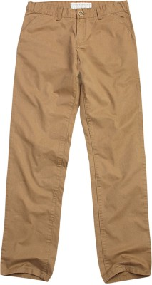 SuperYoung Regular Fit Boy's Brown Trousers