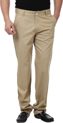 Adhaans Regular Fit Men's Brown Trousers