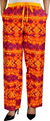 Jhoomar Regular Fit Women's Orange Trousers