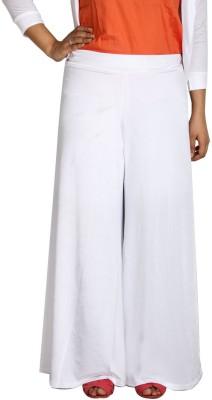 Shahfali Regular Fit Women's White Trousers