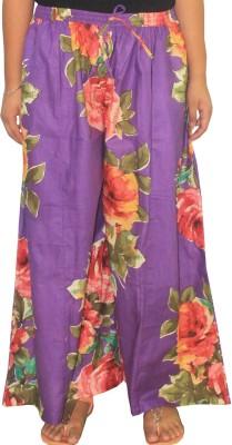 Chhipaprints Regular Fit Women's Purple Trousers