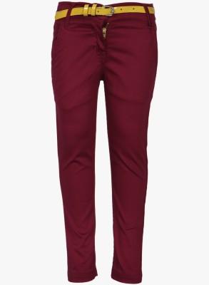 612 League Regular Fit Girl's Orange Trousers