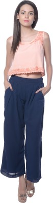 Holidae Regular Fit Women,s Blue Trousers