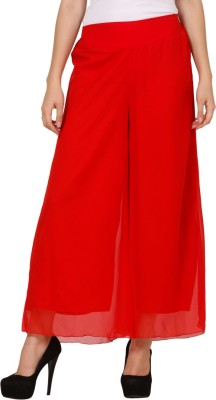 Pretty Angel Regular Fit Women's Red Trousers