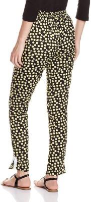 Atayant Regular Fit Women's Black, Yellow Trousers
