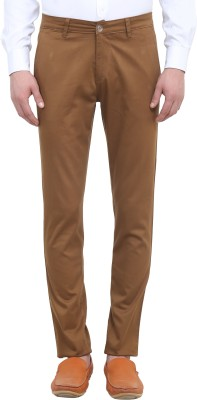 Colors Couture Slim Fit Men's Brown Trousers