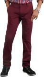 Thinc Slim Fit Men's Maroon Trousers