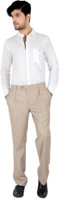 Follow Up Slim Fit Men's Beige Trousers