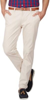 American Swan Slim Fit Men's White Trousers