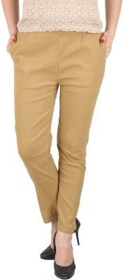 c/cotton comfort Slim Fit Women's Beige Trousers