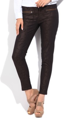 Arrow Slim Fit Women's Brown Trousers at flipkart