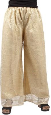 Taraz Regular Fit Women's Gold Trousers