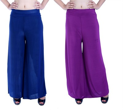 Ajaero Regular Fit Women's Dark Blue, Purple Trousers