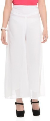 Maya Apparels Regular Fit Women's White Trousers