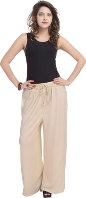 BANNO Regular Fit Women's Beige Trousers