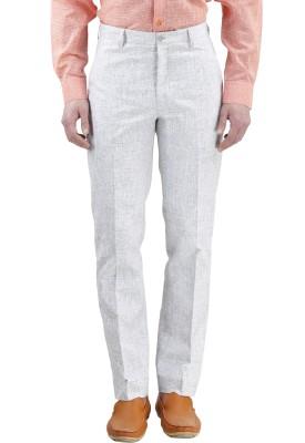Gazi Regular Fit Men's Cream Trousers