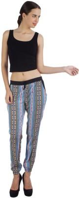 Veakupia Regular Fit Women's Blue Trousers