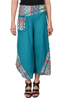 CURVYY Regular Fit Women's Blue Trousers