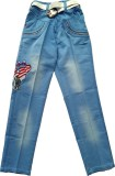 Kidicious Slim Fit Boys Blue Trousers