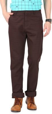 FR Slim Fit Men's Brown Trousers