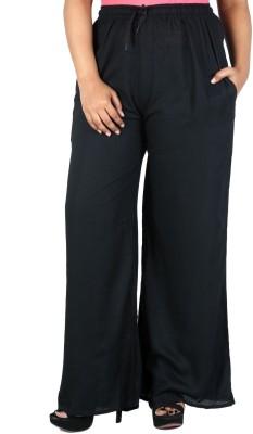 Nimya Regular Fit Women's Black Trousers