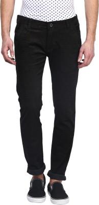 Rodamo Slim Fit Men's Brown Trousers
