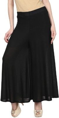 Edge Plus Regular Fit Women's Black Trousers