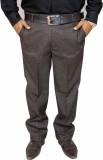 Rich Perk Slim Fit Men's Brown Trousers
