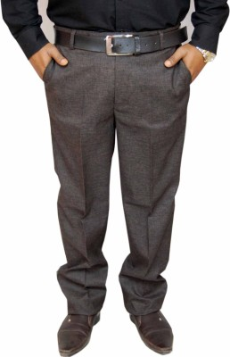 RICH PERK Regular Fit Men's Brown Trousers