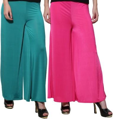 Both11 Regular Fit Women's Purple, Green Trousers