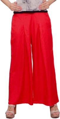 Soniya Regular Fit Women's Red Trousers at flipkart