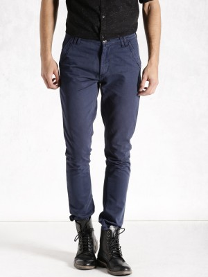 Roadster Regular Fit Men's Dark Blue Trousers