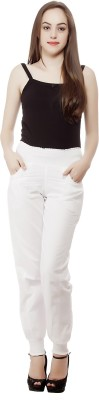 Mansi Collections Regular Fit Women's White Trousers