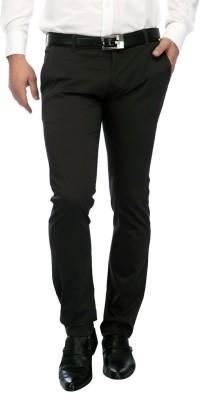 FRANK JEFFERSON Skinny Fit Men's Grey Trousers