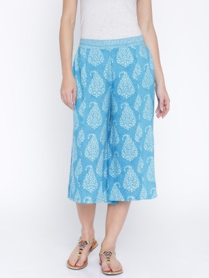 Anouk Regular Fit Women's Blue, White Trousers at flipkart
