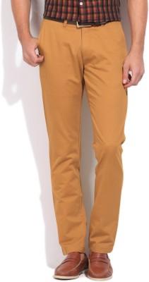 Arrow Sports Slim Fit Men's Orange Trousers
