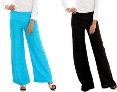 MountainColours Regular Fit Women's Light Blue, Black Trousers
