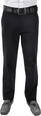 FRANK JEFFERSON Regular Fit Men's Black Trousers
