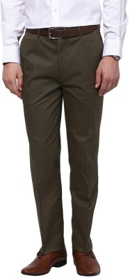 GIVO Slim Fit Men's Green Trousers