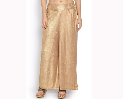 Agrima Fashion Regular Fit Women's Gold Trousers