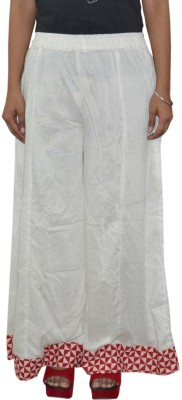 Pezzava Regular Fit Women's White, Red Trousers