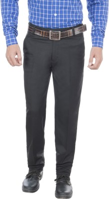 Greybooze Slim Fit Men's Black Trousers