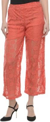 Mayra Regular Fit Women's Pink Trousers